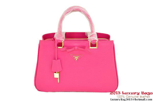 Prada Saffiano Calf Leather Tote Bag BN2244 Rose