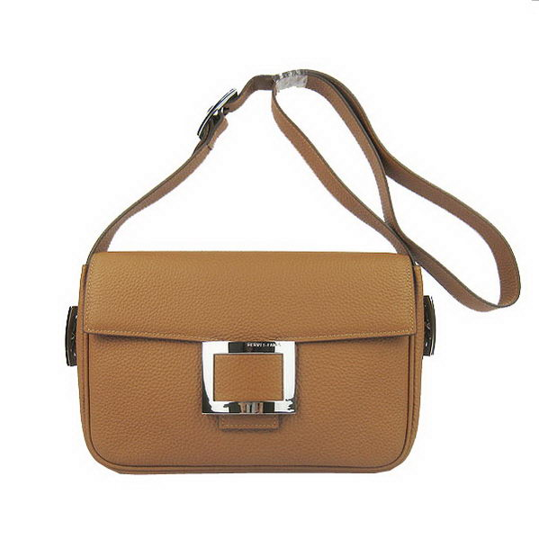 Hermes Buckle Shoulder Bag Calfskin Camel