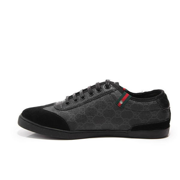 Gucci Flat Casual Shoes Canvas GG0421 Black