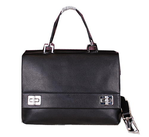 Prada Smooth Leather Tote Bags BN2796 Black