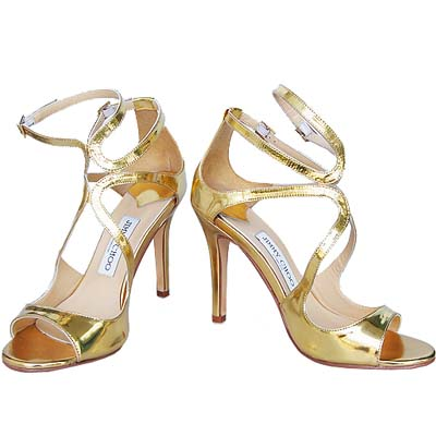 New Fashion Jimmy Choo High Heeled Sandals Golden