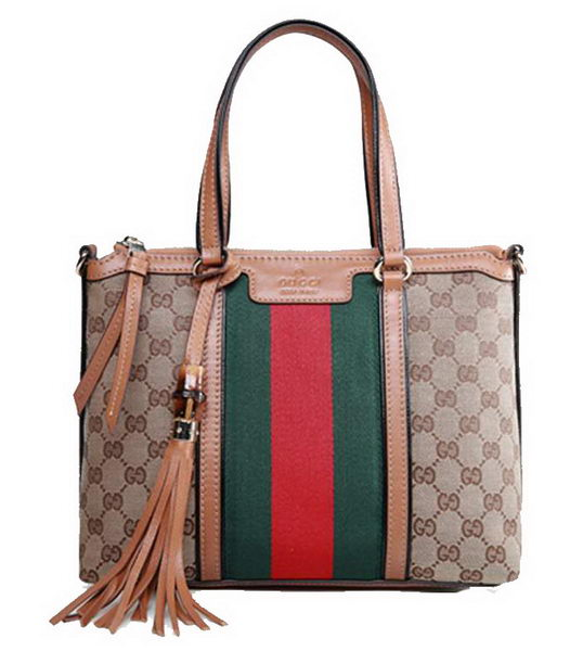 Gucci Rania Original GG Canvas Top Handle Bag 353114 Apricot