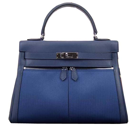 Hermes Kelly Lakis Tote Bag H3658 Blue