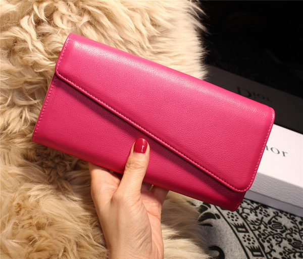 Dior Diorissimo rencontre Wallet Smooth Calfskin M2202 Rose