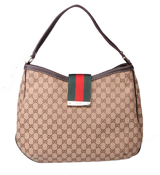 Gucci New Ladies Web Large Hobo Bag 233604 F4CBG 9793