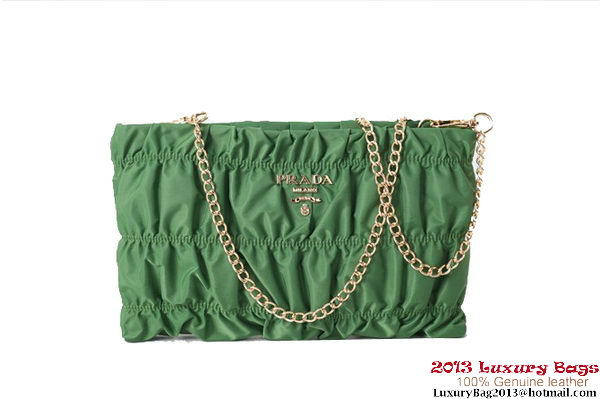 Prada Gaufre Nappa Leather Clutch BP0237 Green