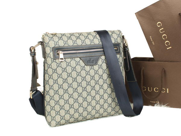 Gucci GG Supreme Canvas Messenger Bag 322279 Blue