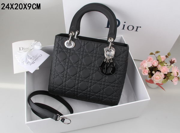 Lady Dior Bag Nubuck Leather CD99002 Black