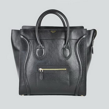 Celine Matte Paper Leather Handbag 98170 Black