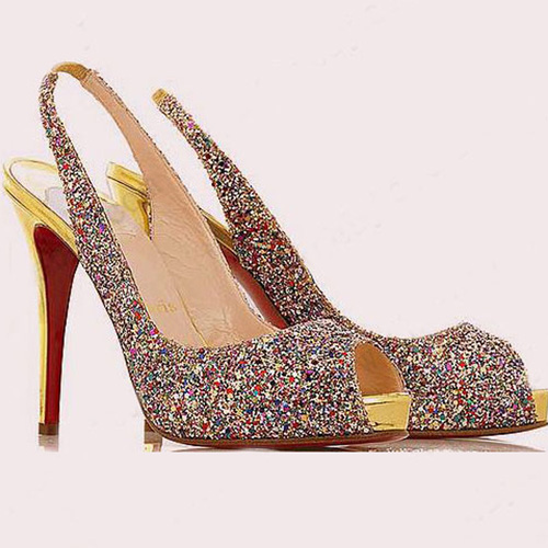 Christian Louboutin N-Prive fabric slingbacks Multi-color