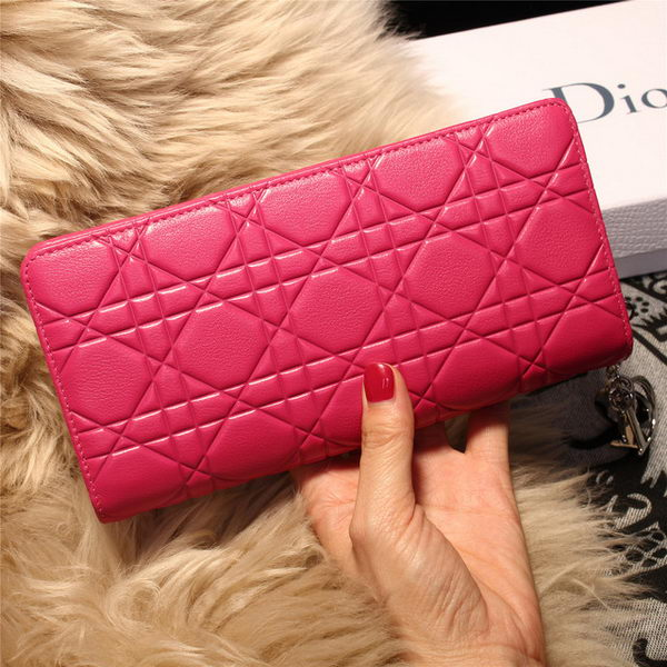 Dior Escapade Wallet in Sheepskin Leahter D1875 Rose