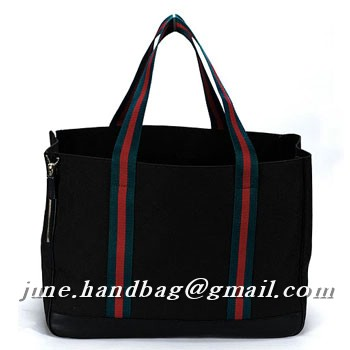Gucci Dog Bag GG Fabric Large Tote 210048 Black