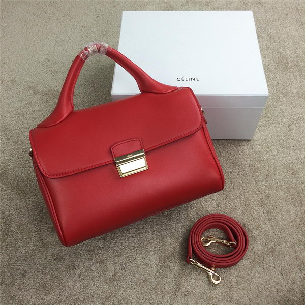 Celine Small Top Handle Bag Original Leather C20135S Red