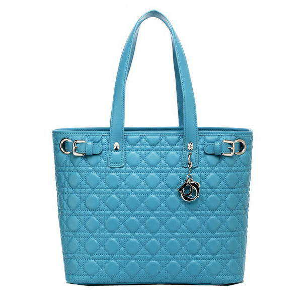 Dior Soft Large Tote Bag in Lambskin D2018 SKyBlue
