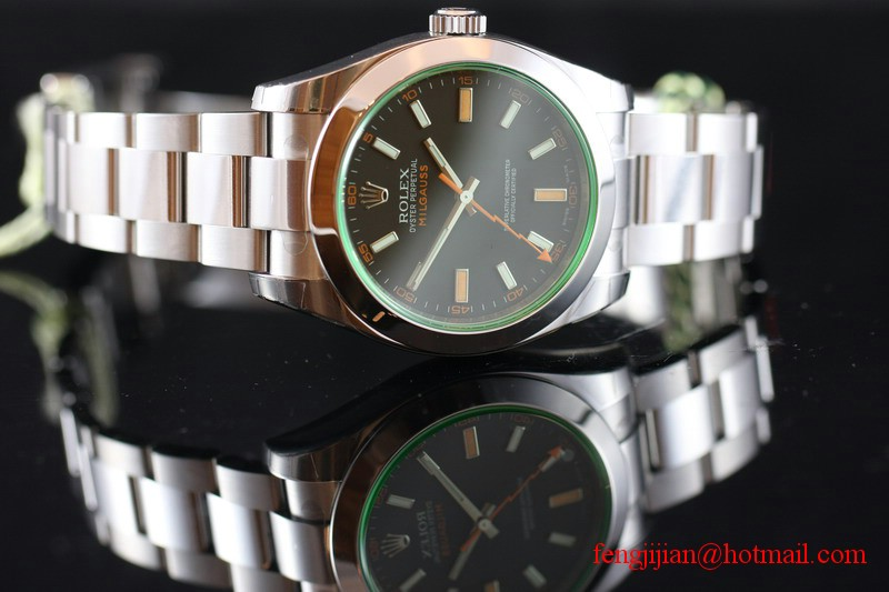 Rolex Green Crystal Milgauss Watch 116400GV-72400