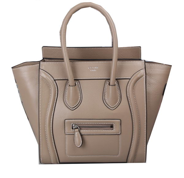Celine Luggage Micro Tote Bag Grainy Leather C3308M Apricot