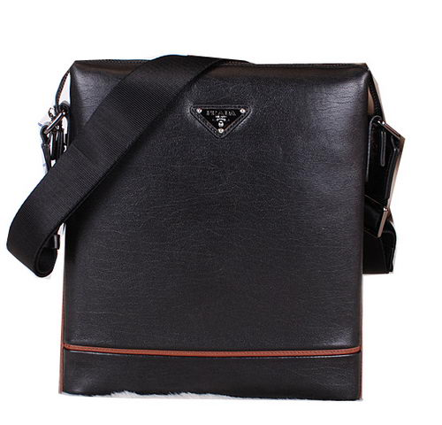 Prada Smooth Leather Messenger Bag P501030 Black