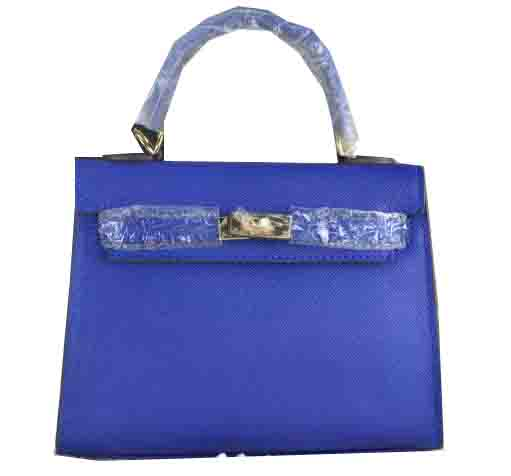Hermes Kelly 22cm Tote Bag Calfskin Leather Blue