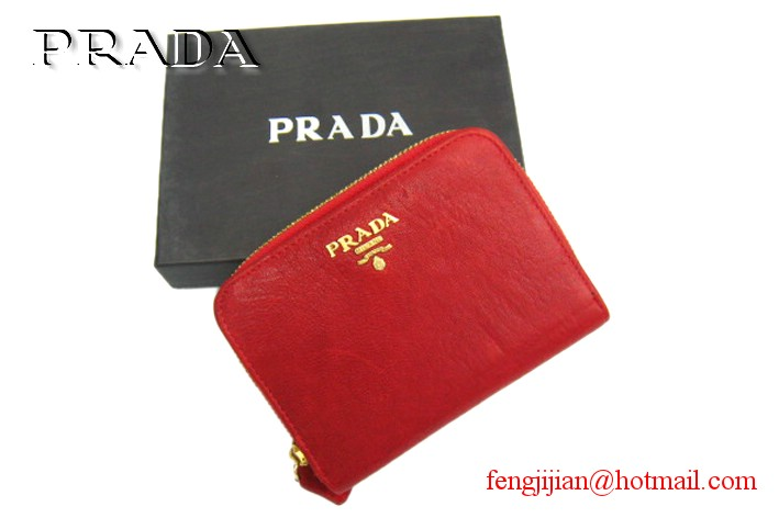 Prada 2010 New wallet P-B805 red