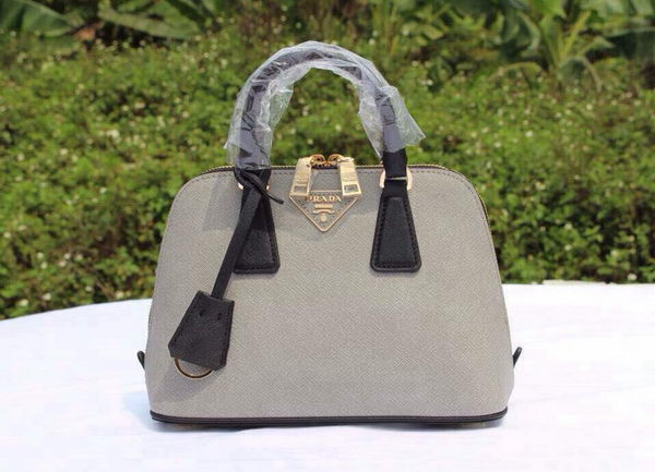 Prada Saffiano Leather Two Handle Bag BL0838P Grey