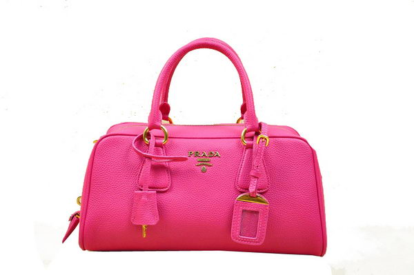 Prada Grainy Leather Boston Bag BN0867 Rose