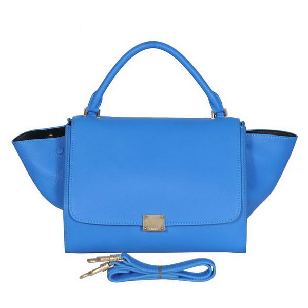 Fashion Celine Trapeze Bags Calf Leather C008 Blue