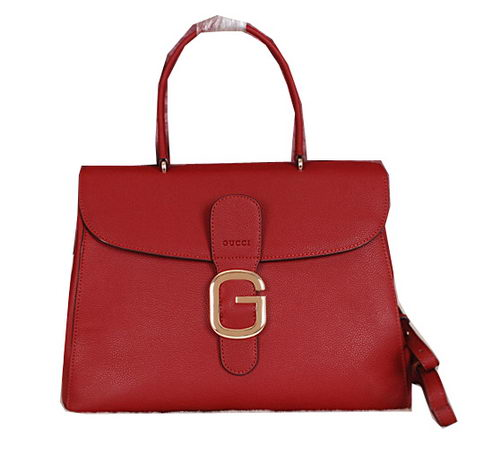 Gucci Grainy Leather Tote Bag G3526 Burgundy