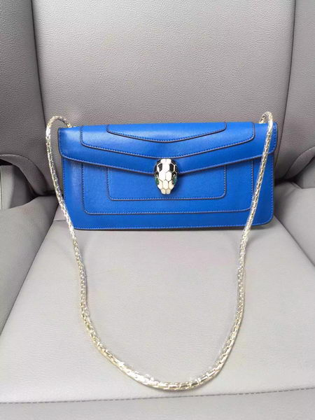 BVLGARI Shoulder Bag Calfskin Leather BG90071 Blue