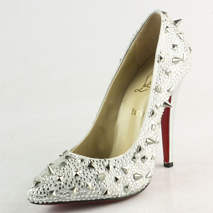 Christian Louboutin Pigalili 120mm Pumps CL9750 White Satin