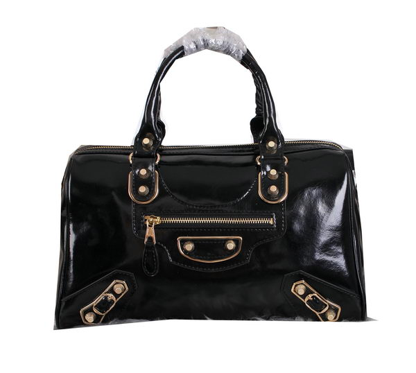 Balenciaga Medium Gaint Gold Part Time Bag 8830 Black
