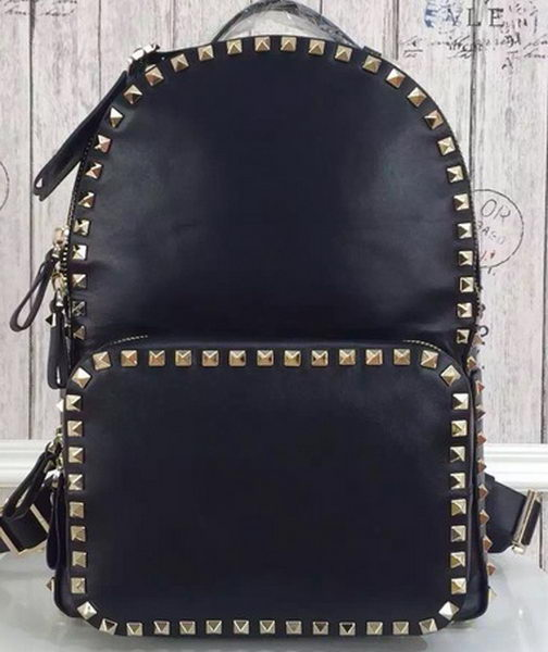 Valentino Garavani Rockstud Backpack Original Leather VL19612C Black