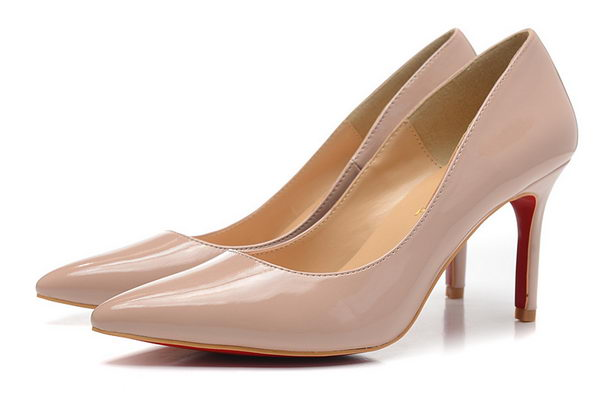 Christian Louboutin Patent Leather 80mm Pump CL1425 Apricot