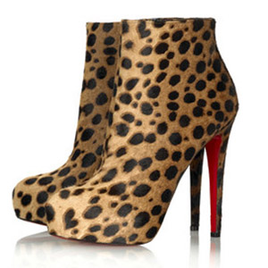 Christian Louboutin red sole shoes Miss Clichy 140 boots