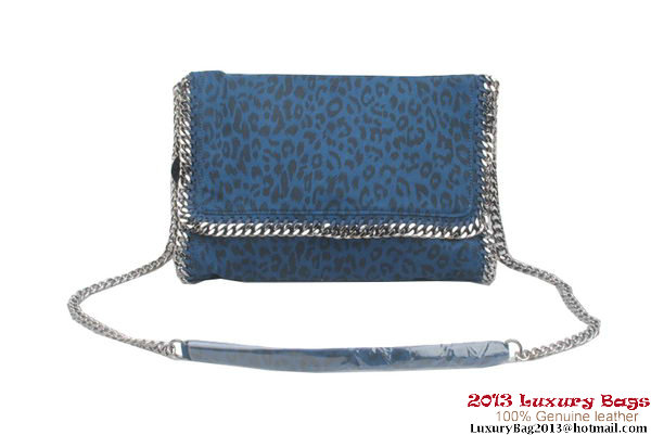 Stella McCartney Falabella Leopard PVC Cross Body Bag 822 Blue