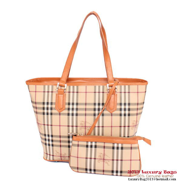 BurBerry Small Haymarket Check Saddlestitch Shoulder Bag Camel