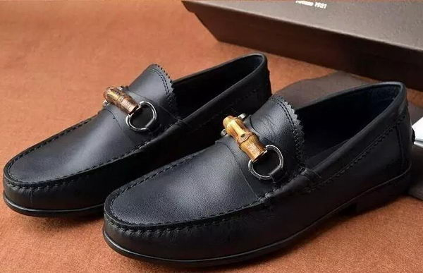 Gucci Casual Shoes Calfskin Leather GG0531 Black