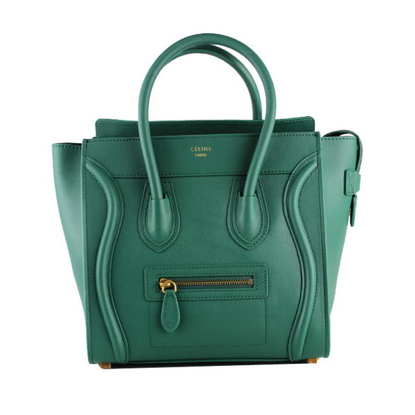 Celine Luggage Micro Tote Bag Original Ferrari Leather 88023 Green