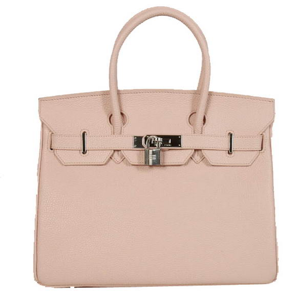 Hermes Birkin 30CM Tote Bags Smooth Togo Leather Pink