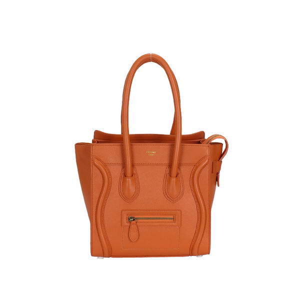 Celine Luggage Medium Bag Calf Leather Orange