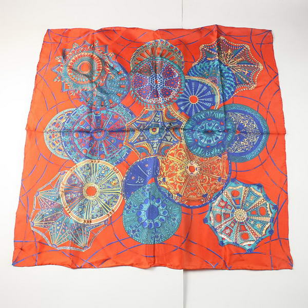 Hermes Scarves Silk Broadcloth WJH067 Orange