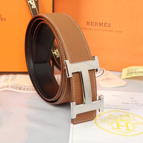Hermes Imported Belt HR1002G Khaki