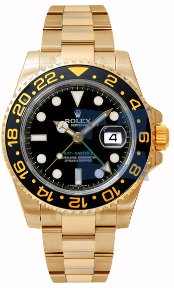 Rolex GMT Master Series II Fashionable Mens Automatic COSC Wristwatch 116718B