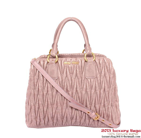 miu miu Matelasse Shiny Leather Tote Bag RN0931 Violet
