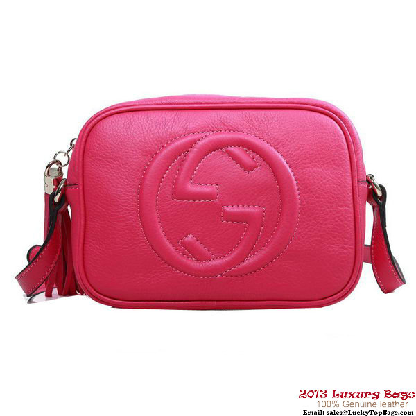 Gucci Soho Disco Bag Calfskin Leather 308364 Rose