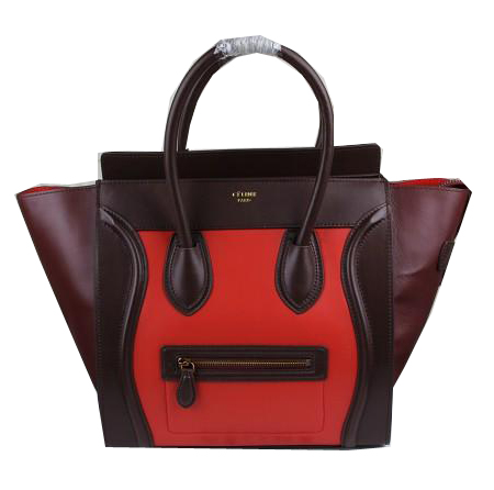 Celine Luggage Mini Bags Smooth Leather Ci3308 Red&Brown&Burgundy