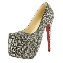 Christian Louboutin Glitter Daffodile 160mm Platform Pumps Black