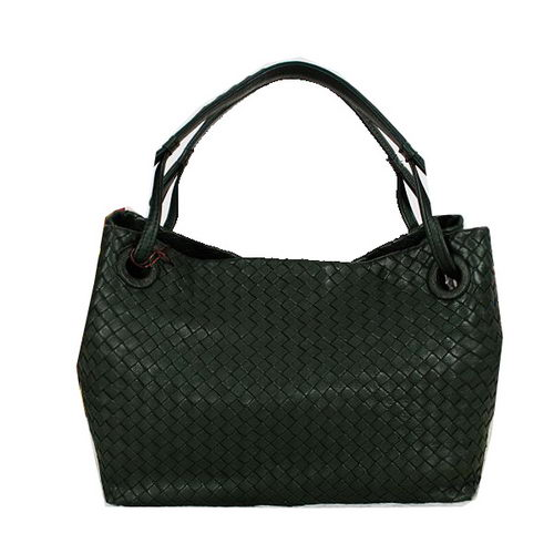Bottega Veneta Intrecciato Nappa Shoulder Bag BV13005 Green