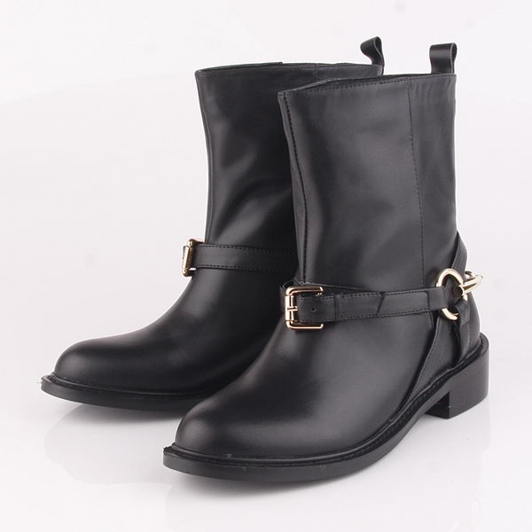 Gucci Sheepskin Leather Ankle Boot GG0428 Black