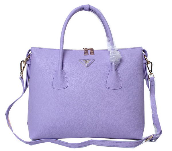 Prada Grainy Leather Two-Handle Bags BN0890 Lavender