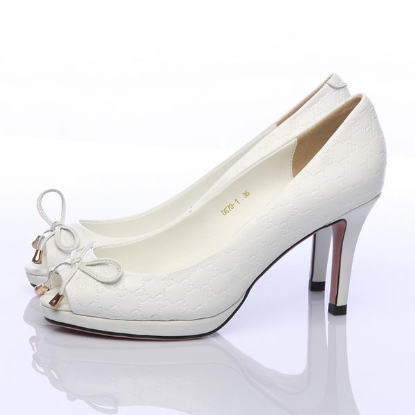 Gucci 80mm Pump in Sheepskin Leather GG0365 White
